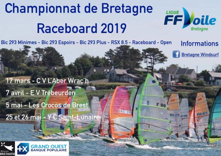 CHAMPIONNAT de BRETAGNE RaceBoard  17 Mars 2019 Avis de Course