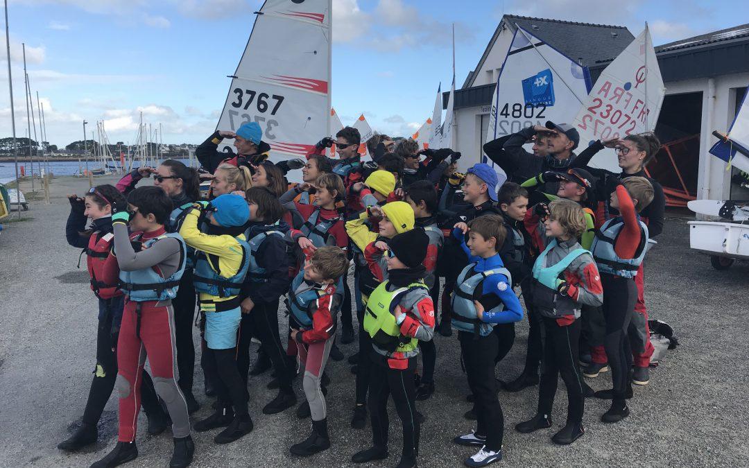 Stages Sportifs Voile en Pays de Brest au CVL  28 participants