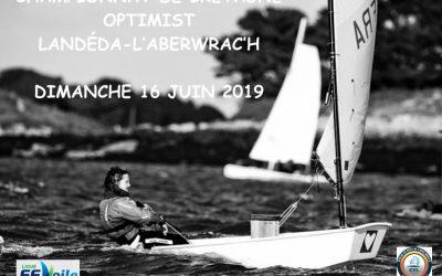 Régate Championnat de Bretagne Optimist LE DIMANCHE 16 JUIN 2019  Avis de course
